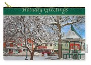 New England Christmas Carry-all Pouch by Joann Vitali