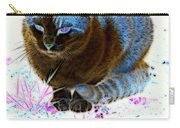 New Kitty Blue Carry-all Pouch