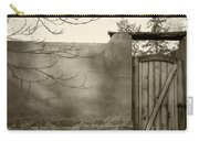 New Mexico Series - Doorway II Black And White Carry-all Pouch