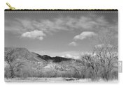 New Mexico Series - Winter Desert Beauty Black And White Carry-all Pouch