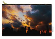 New York City Skyline At Sunset Under Clouds Carry-all Pouch