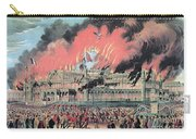 New York Crystal Palace Fire, 1858 Carry-all Pouch by Photo Researchers