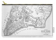 New York: Maps Carry-all Pouch