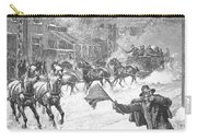 New York: Snowstorm, 1887 Carry-all Pouch