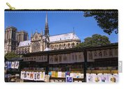 Newstand Next To Notre Dame Carry-all Pouch