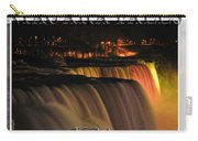 Niagara Falls Usa Triptych Series With Text Carry-all Pouch