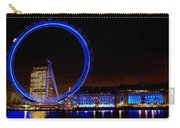 Night Image Of The London Eye And River Thames Carry-all Pouch