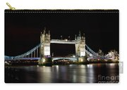 Night Image Of The River Thames And Tower Bridge Carry-all Pouch