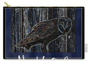 Night Owl Poster - Digital Art Carry-all Pouch