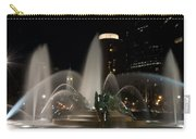 Night View Of Swann Fountain Carry-all Pouch by Bill Cannon