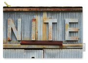 Nite Rusty Metal Sign Carry-all Pouch