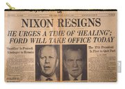 Nixon Resigns: Newspaper Carry-all Pouch