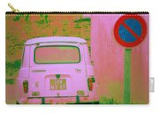 No Parking Sign With Pink Car Carry-all Pouch