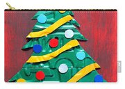 Noel Christmas Tree License Plate Art Carry-all Pouch