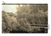 North Fork River In Sepia Carry-all Pouch
