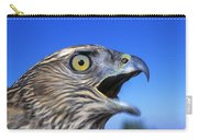 Northern Goshawk With Open Beak Carry-all Pouch