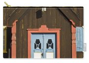 Norwegian Wooden Facade Carry-all Pouch by Heiko Koehrer-Wagner