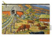 Nostalgia Cows Painting By Prankearts Carry-all Pouch