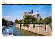 Notre Dame Cathedral Along The Seine River Carry-all Pouch