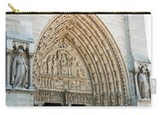 Notre Dame Cathedral Right Entry Door Carry-all Pouch