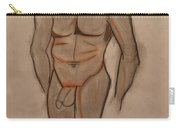 Nude Male Drawing Carry-all Pouch