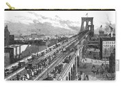 Ny: Brooklyn Bridge, 1883 Carry-all Pouch
