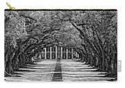 Oak Alley Monochrome Carry-all Pouch by Steve Harrington