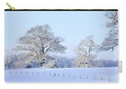 Oak In Snow Carry-all Pouch
