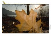 Oak Leaf In Backlight Carry-all Pouch