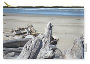 Ocean Beach Driftwood Art Prints Coastal Shore Carry-all Pouch