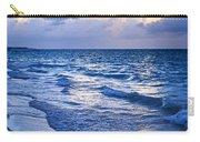Ocean Waves On Beach At Dusk Carry-all Pouch