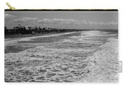 Oceanside In Black And White Carry-all Pouch