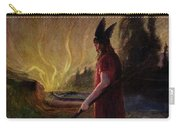 Odin Leaves As The Flames Rise Carry-all Pouch by H Hendrich