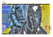 Officer And Black Horse Carry-all Pouch