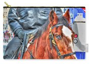Officer On Brown Horse Carry-all Pouch