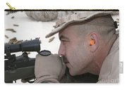 Officer Sights In On The Target Carry-all Pouch