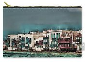 Oill Paint Effect Mykonos Greece Carry-all Pouch