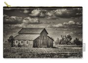 Old Barn After The Storm Black And White Carry-all Pouch