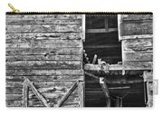 Old Barn Door In Black And White Carry-all Pouch
