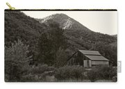 Old Barn In Black And White Carry-all Pouch