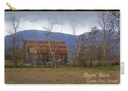 Old Barn In Southern Oregon With Text Carry-all Pouch