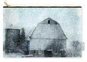 Old Barn In Winter Snow Carry-all Pouch