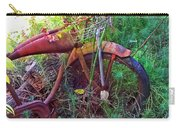 Old Bike And Weeds Carry-all Pouch