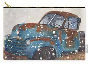 Old Blue Chevy Winter Storm Carry-all Pouch