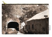 Old Car Older Barn Oldest Bridge Carry-all Pouch
