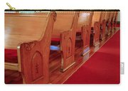 Old Church Pews Carry-all Pouch by LeeAnn McLaneGoetz McLaneGoetzStudioLLCcom