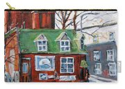 Old Corner Store Montreal By Prankearts Carry-all Pouch