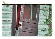 Old Door On Rustic Alaska Cabin Carry-all Pouch