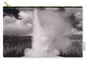 Old Faithful Yellowstone Bw Carry-all Pouch