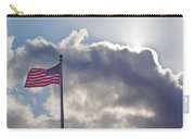 Old Glory In The Wind Carry-all Pouch